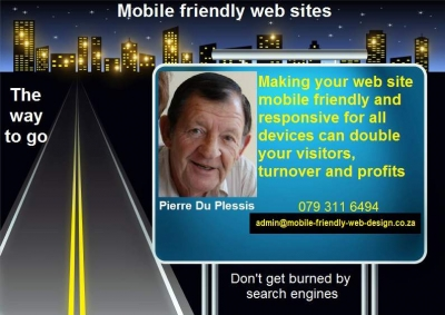 Responsive mobile friendly web design.