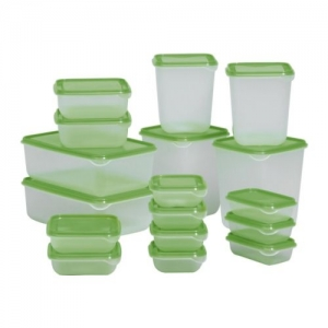Microwavable plastic takeaway food container / box