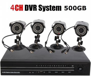 Specials!! 4CH Economic CCTV DIY Kit with 500GB HD