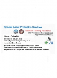 SECURITY TRAINING - PSIRA REGISTERED & PFTC REGIST